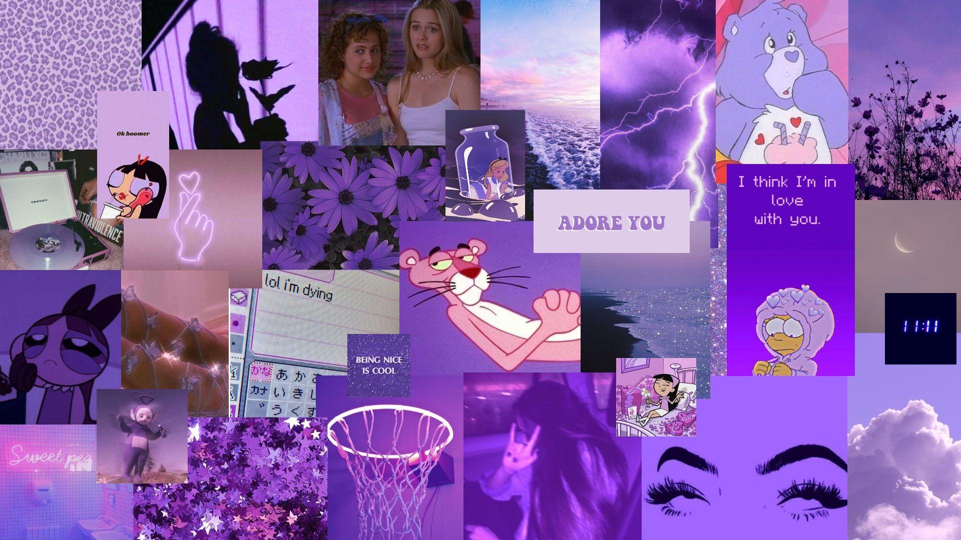 Purple Aesthetic Grunge Desktop Background In 2020 Aesthetic Desktop Wallpaper Harry Styles Wallpaper Desktop Wallpaper Art