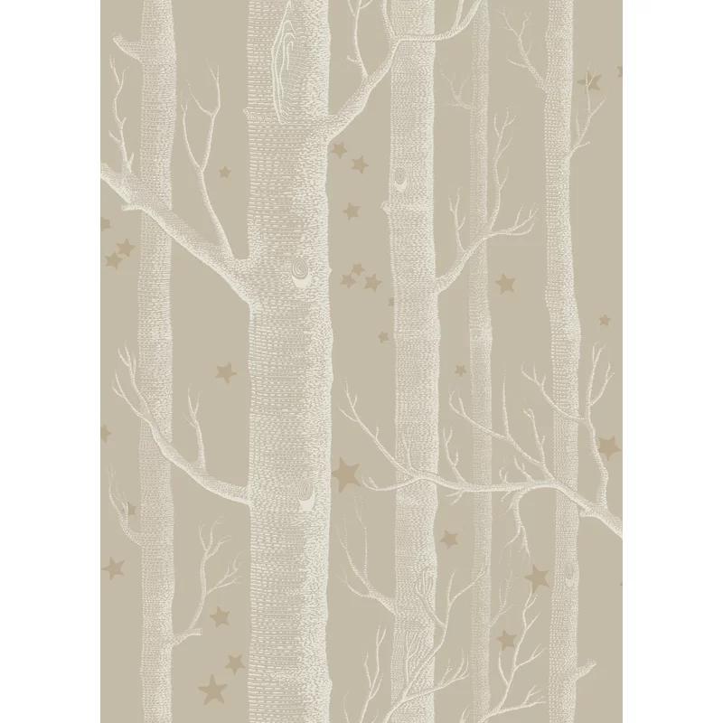 """Wood and Star 33' L x 20.5"""" W Wallpaper Roll Wood"""