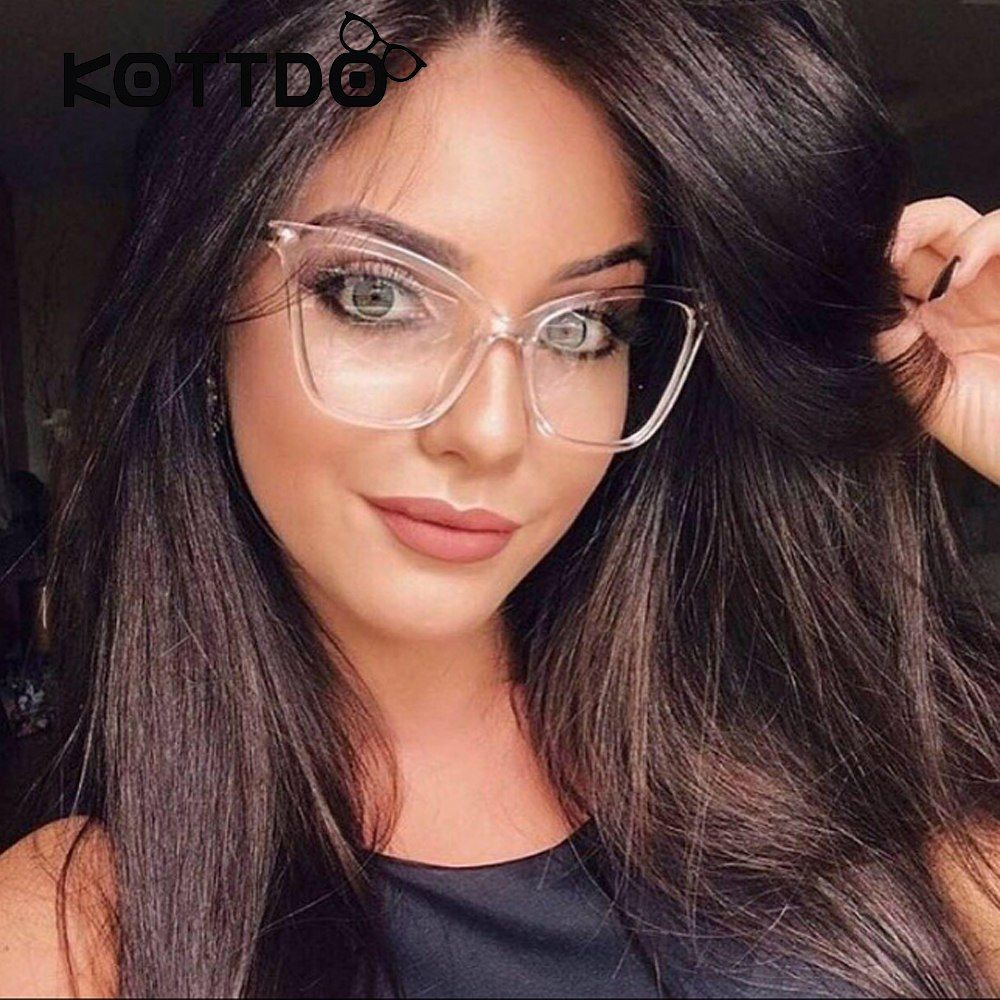 73ea06bd6c3a 2017 Sexy Black Cat Eye Clear Lens Female Glasses Fashion New Brand  Designer Eyewear Optical Frame Women Glasses Clear Goggles