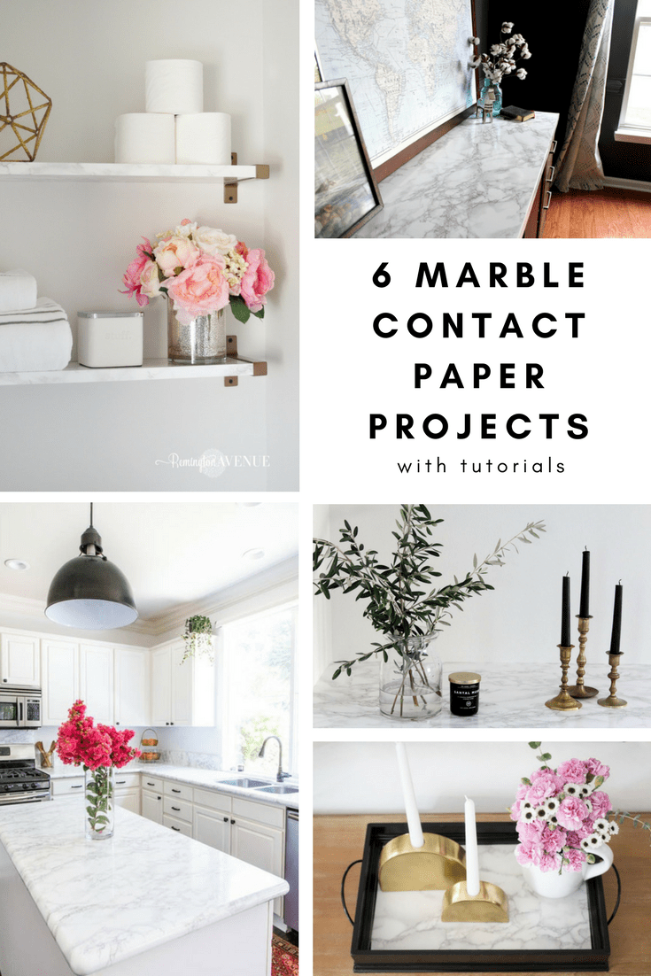 The Best Diy Marble Contact Paper Projects With Tutorials Honey N Hydrangea Diy Marble Contact Paper Contact Paper Diy Marble