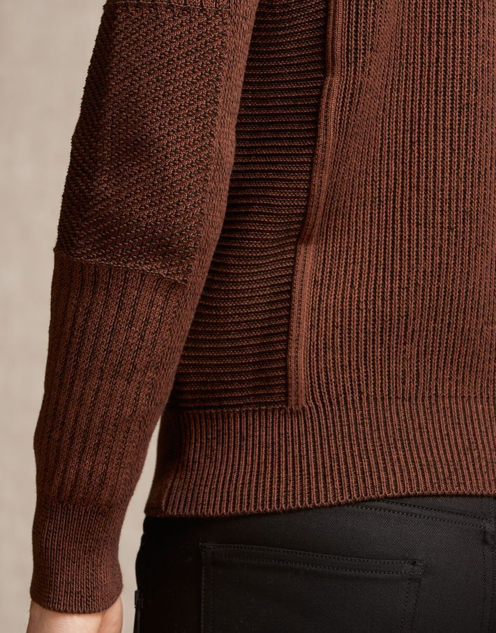 Coniston Jumper - Burnt Orange Cotton Knitwear | KNIT MEN ...