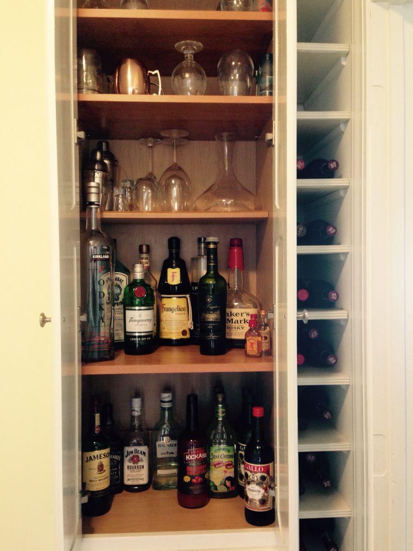 Liquor Cabinet Wine Cubbies