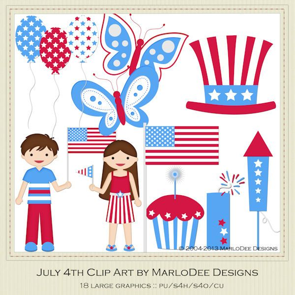 July 4th - MarloDee Designs Graphics