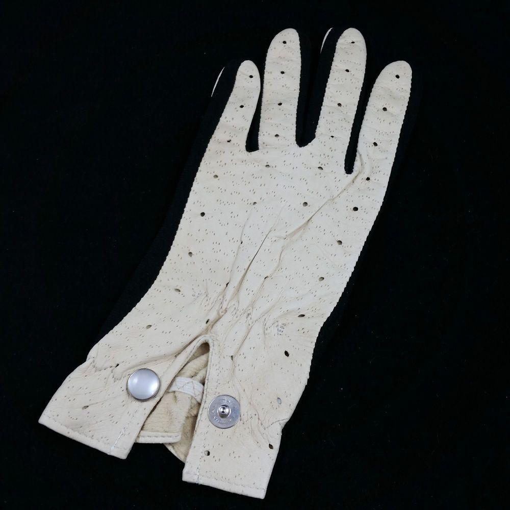 Black leather golf gloves - Vintage Par D Lux Leather Golf Glove Size Ladies Pardlux