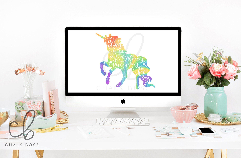 Rainbow Unicorn Wallpaper Background Computer Background Etsy Desktop Wallpapers Backgrounds Unicorn Wallpaper Wallpaper Backgrounds