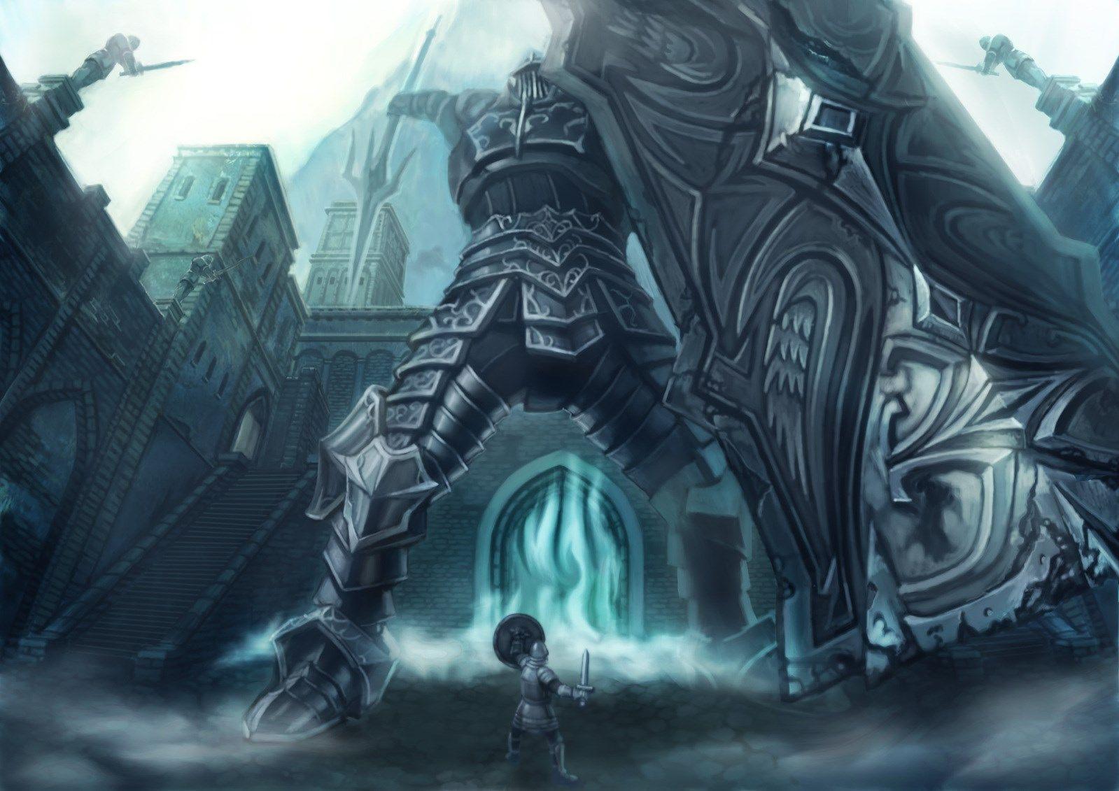 Backgrounds High Resolution Demons Souls Wallpaper 1599x1131 257 Kb Tower Knight Demon Souls Dark Souls Meme