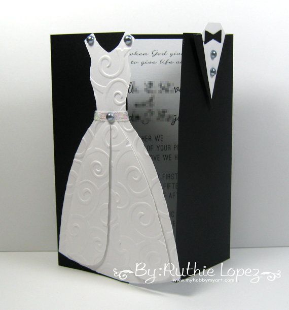 Bride and Groom Wedding Invitation, Romantic Wedding Invitation ...