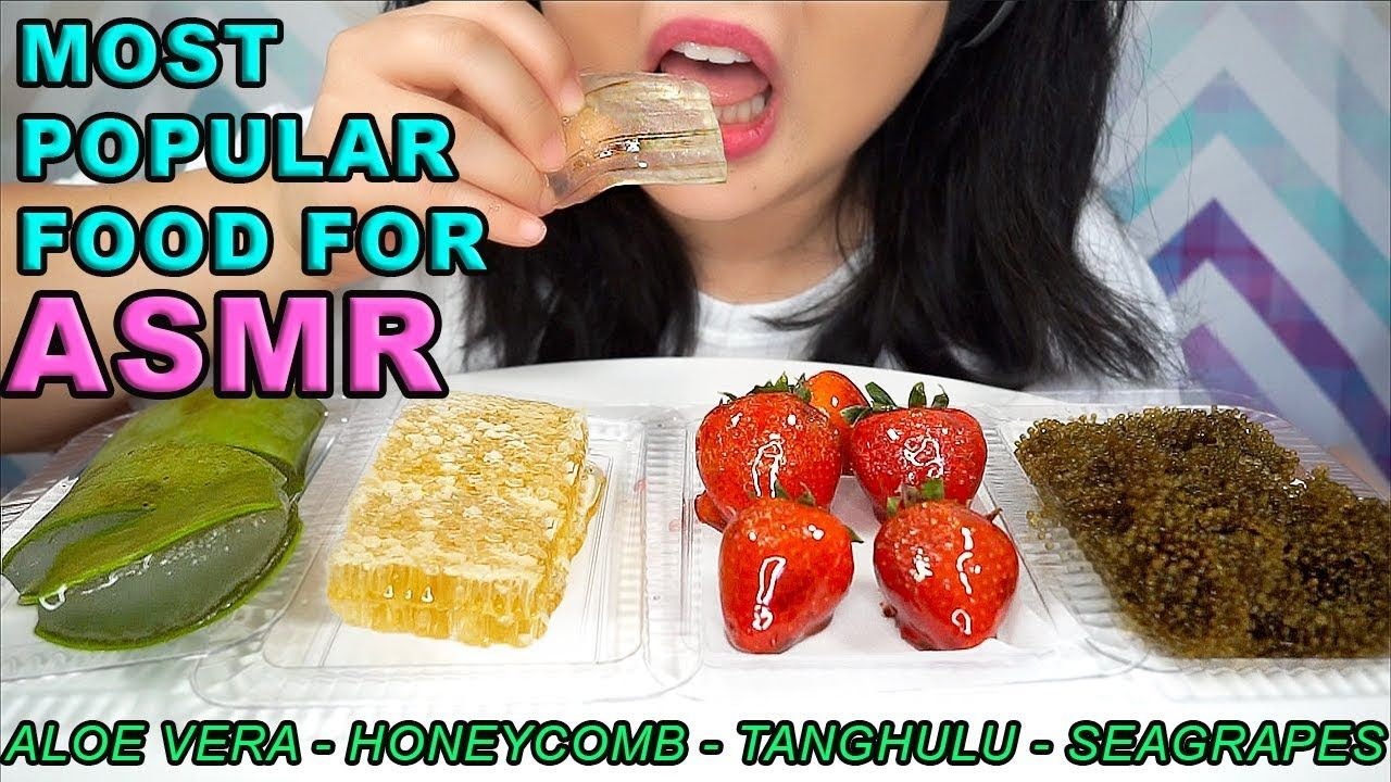 Most Popular Food For Asmr Aloe Vera Honeycomb Tanghulu Sea Grapes E Popular Recipes Tanghulu Asmr Check out the aloe challenge play list from other artist. aloe vera honeycomb tanghulu sea