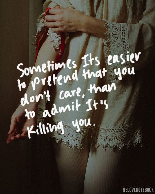 Sometimes it's easier to pretend
