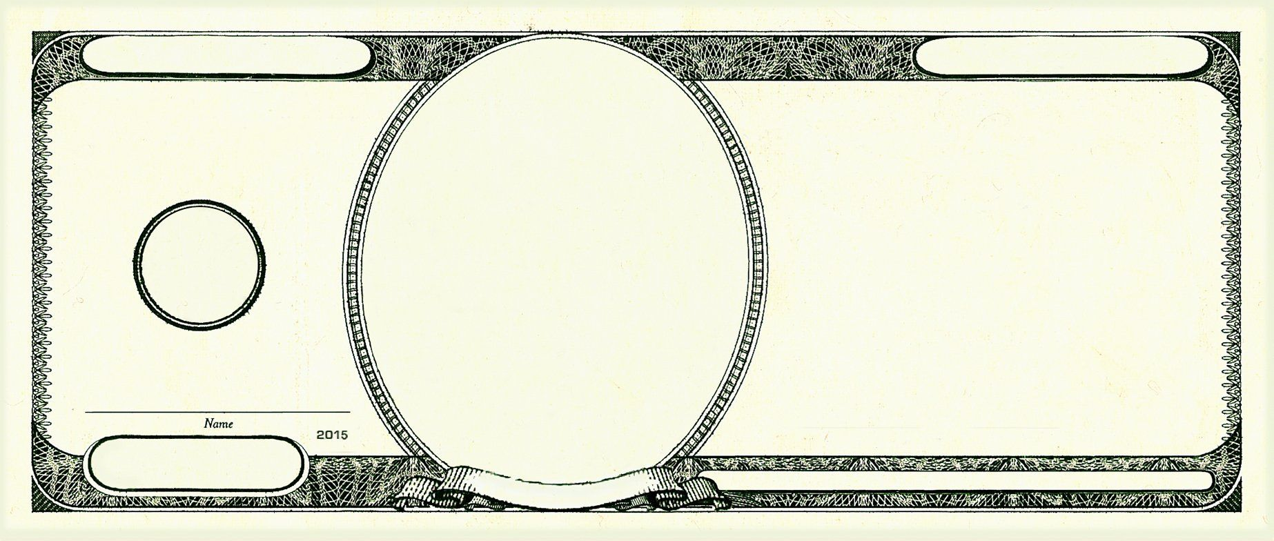 Dollar Bill Photoshop Template