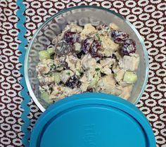 Jillian Michaels Chicken Salad with grapes, pecans, greek yogurt and cucumber
