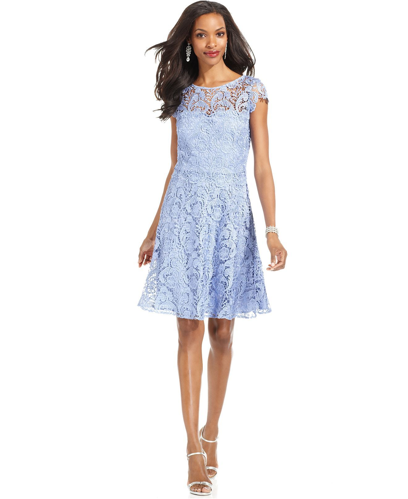 Wedding Marina Dresses marina dress sleeveless embroidered mesh lace dresses women cap sleeve a line macys
