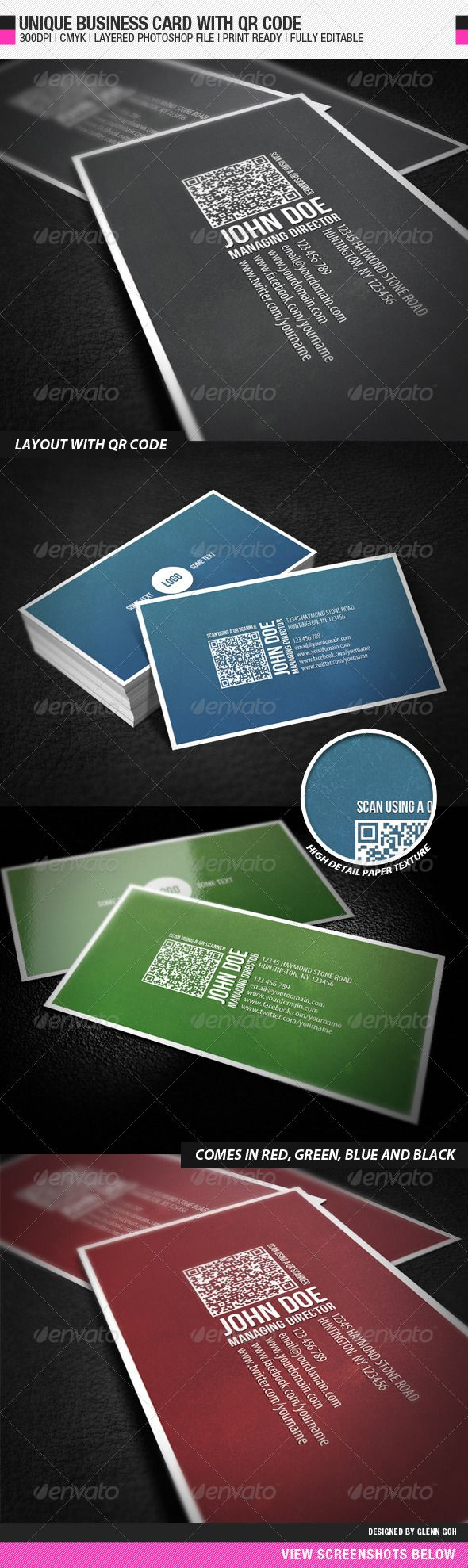 Business card with qr code qr codes business cards and unique business card with qr code reheart Image collections