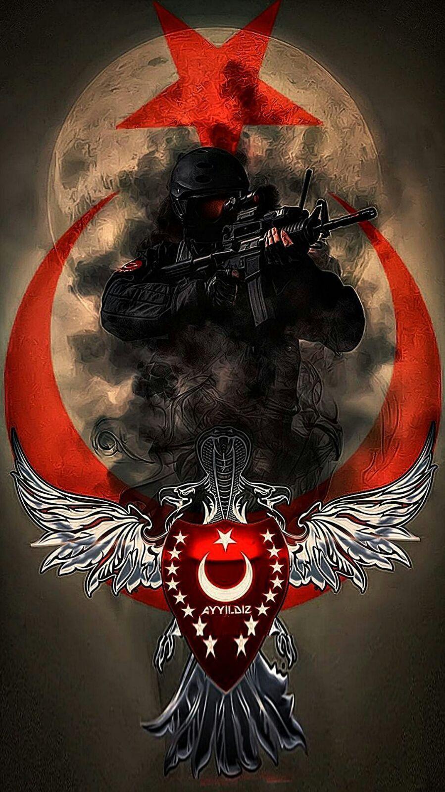 Ayyildiz Tim Türk Turkey Flag Turkish Military Ve Ottoman Empire