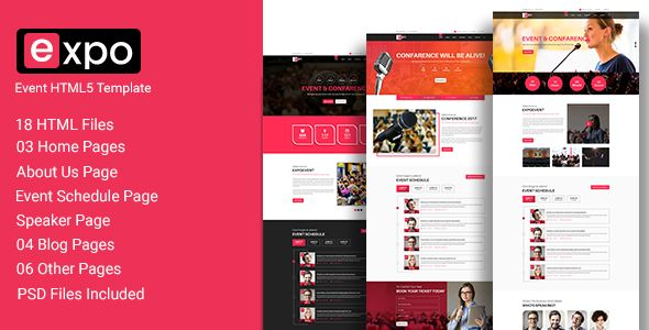 Expo - Event HTML 5 Template | Pinterest | Template and Wordpress