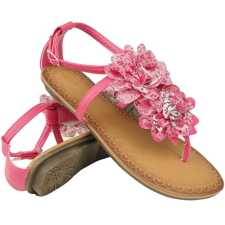 Womens sandals reviews - Women S Floral T Strap Flat Thong Sandals Fuchsia 5 5 10