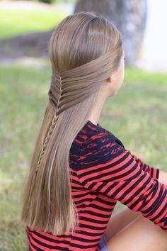 Mermaid Half #Braid     #hairstyles #hairstyletutorial http://tinkiiboutique.com/