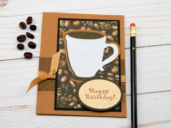 Coffee Birthday Card Coffee Cup Card Stampin Up Bday Card