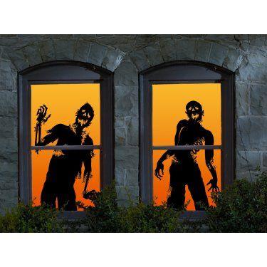 Halloween Ghoulies Window Clings ($10) Holidays - 6 Halloween - halloween window clings