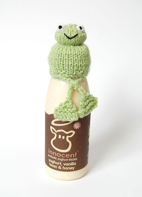 Ravelry Knitted Frog Hat For Innocent Smoothies Big Knit Free