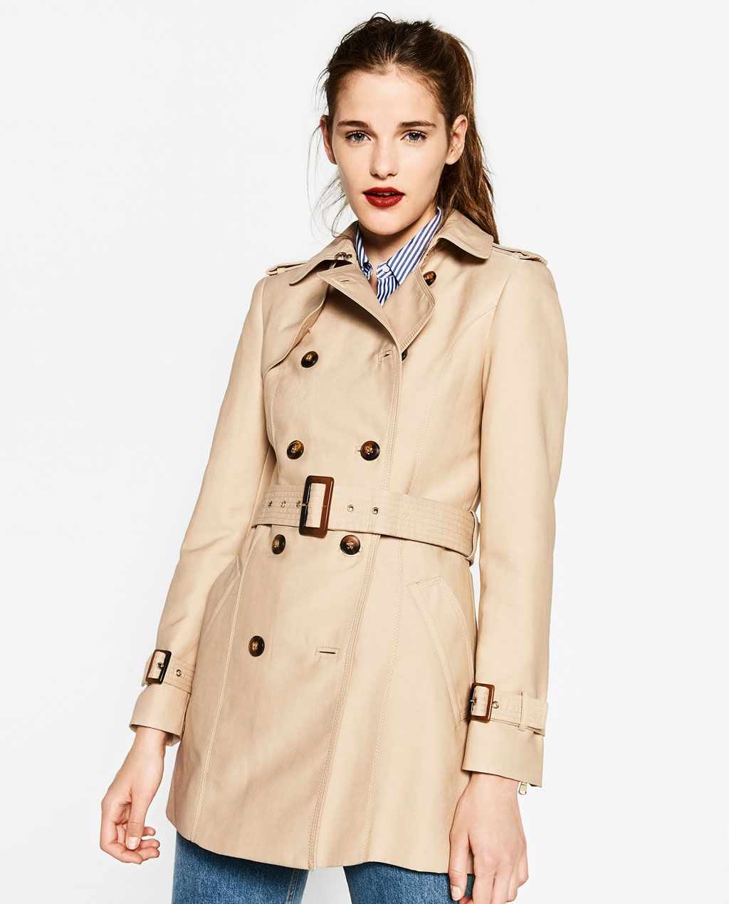 ZARA - WOMAN - WATER RESISTANT TRENCH COAT