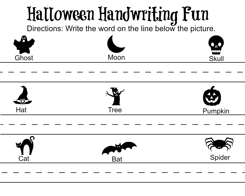 Halloween Handwriting Fun Printable