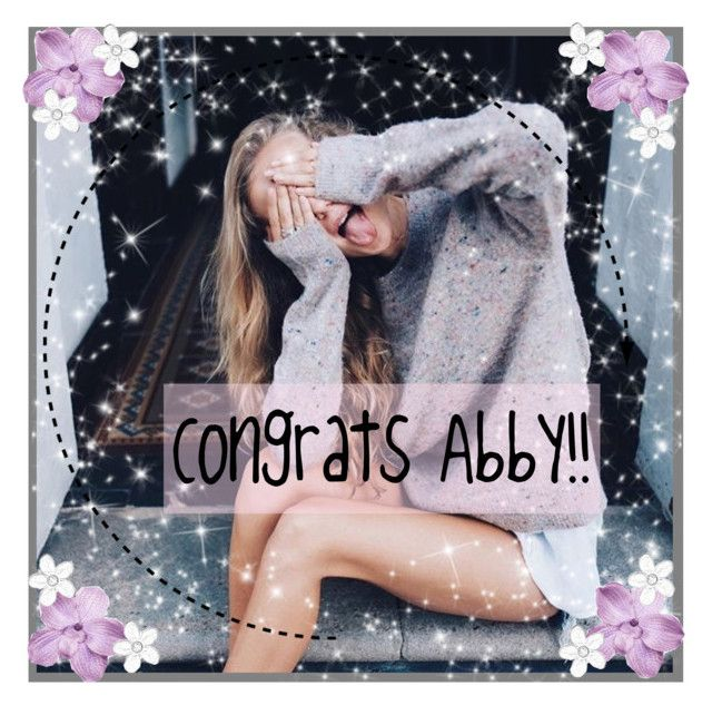 """""""Congrats Abby!!"""" by maddiemae121999 ❤ liked on Polyvore featuring art and MaddieMaeIcons"""