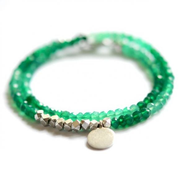 Green Onyx double wrap bracelet