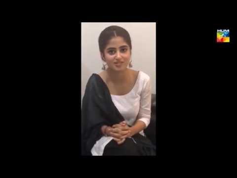 Sajjal ali VIDEO from set of O RANGREZA   HUM TV   UPCOMING