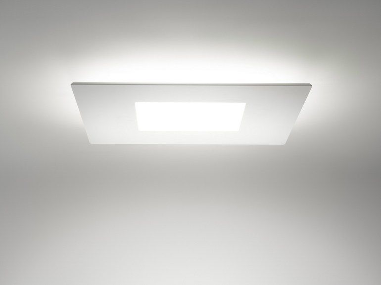 Square led plafon by linea light group design linea light group