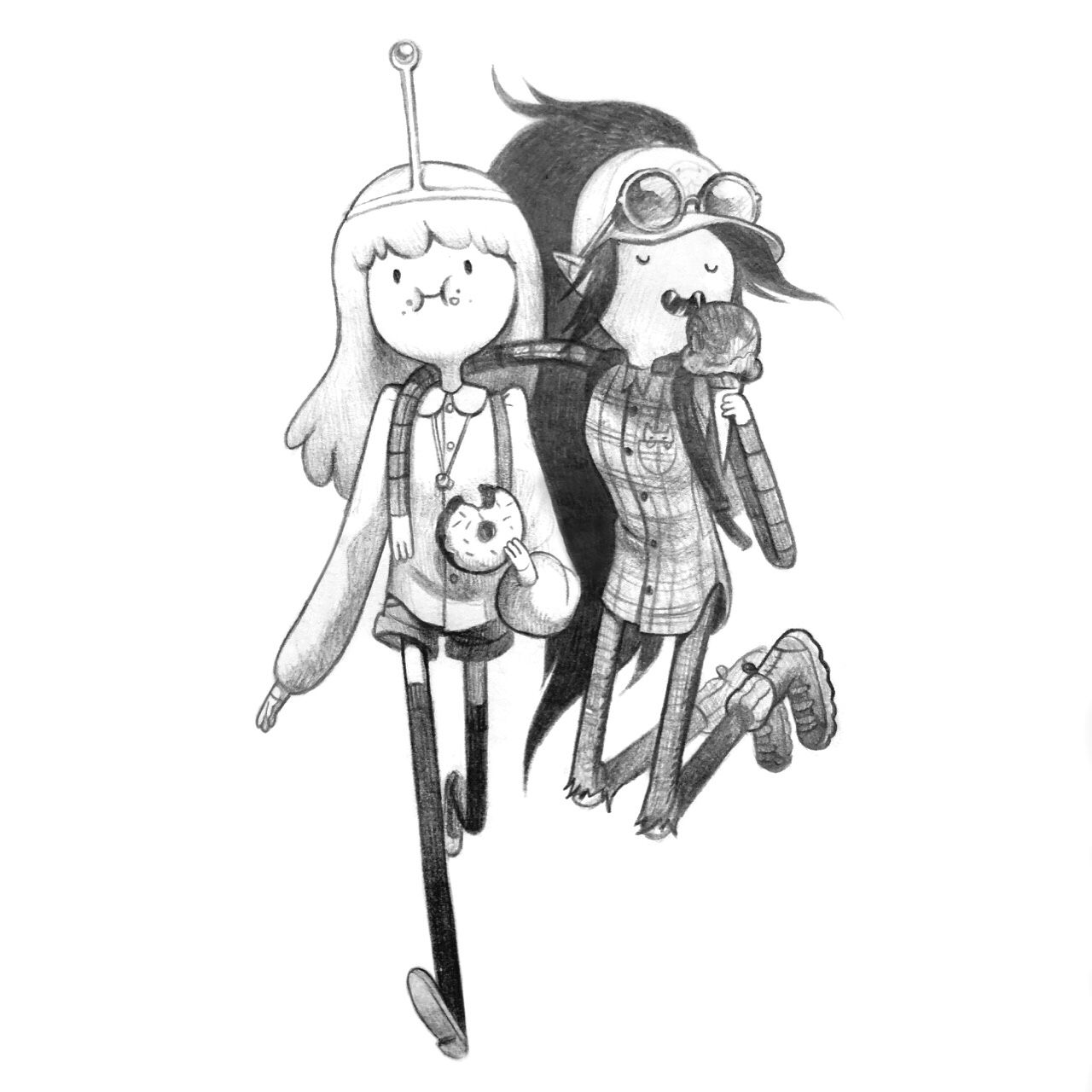 by character & prop designer Joy Angjoy-ang:  PB and Marcy go to Portland.