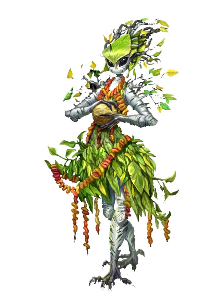 Female Leaf Leshy Druid - Pathfinder 2E PFRPG DND D&D 3 5 5E