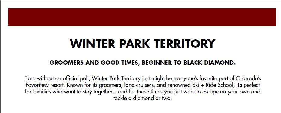 Winter Park Resort Territory Description #WinterParkResort #So7