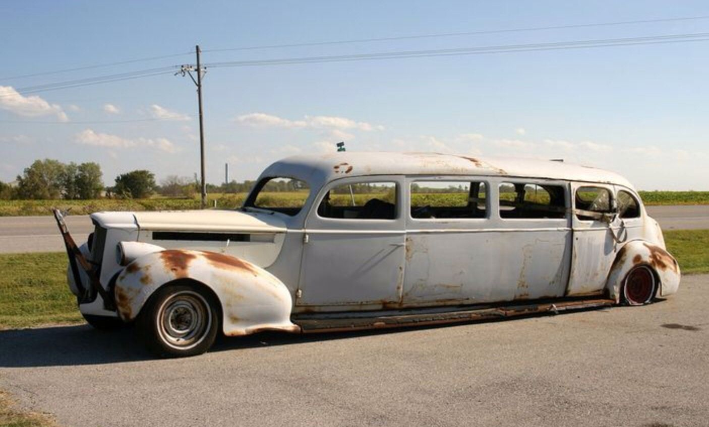 Packard limousine | Abandoned cars, Classic cars muscle ...