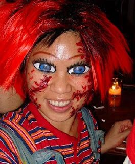 chucky halloween makeup.... I think this would be a great idea to ...