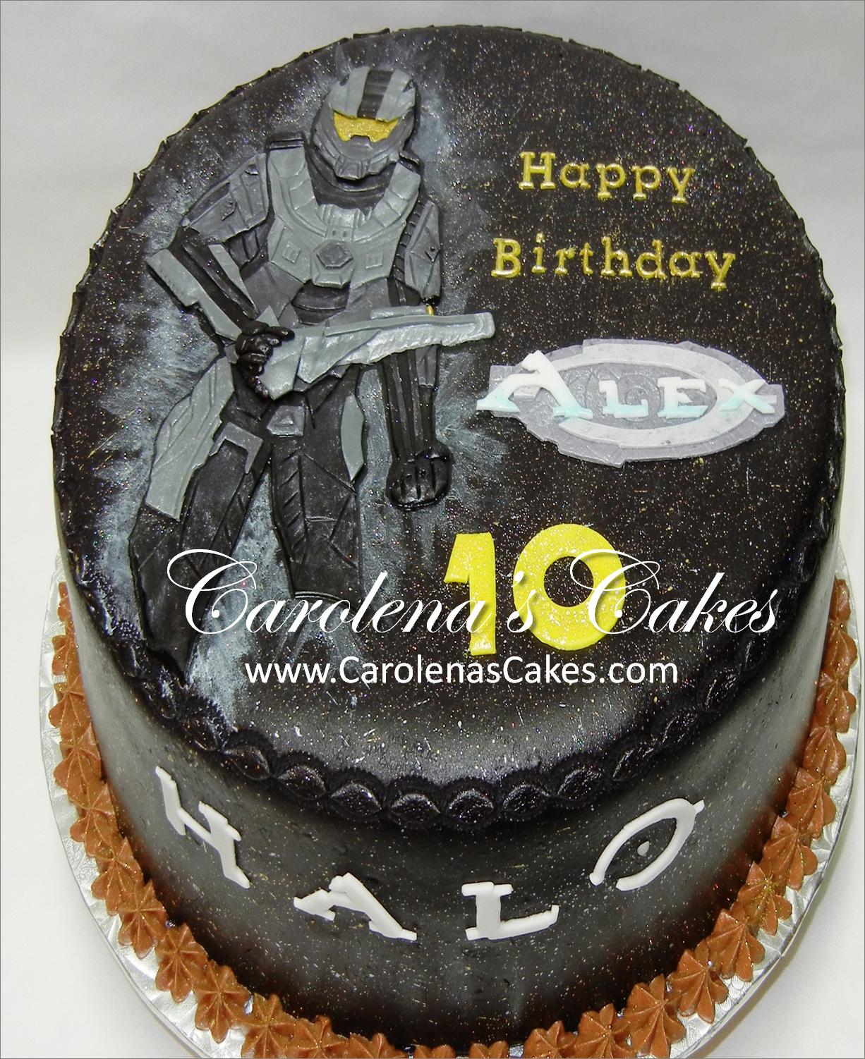 Halo Birthday Cake Www Carolenascakes Com In 2019 Halo