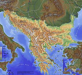 Mapa físico de la península balcánica | PENINSULA BALCANICA ...