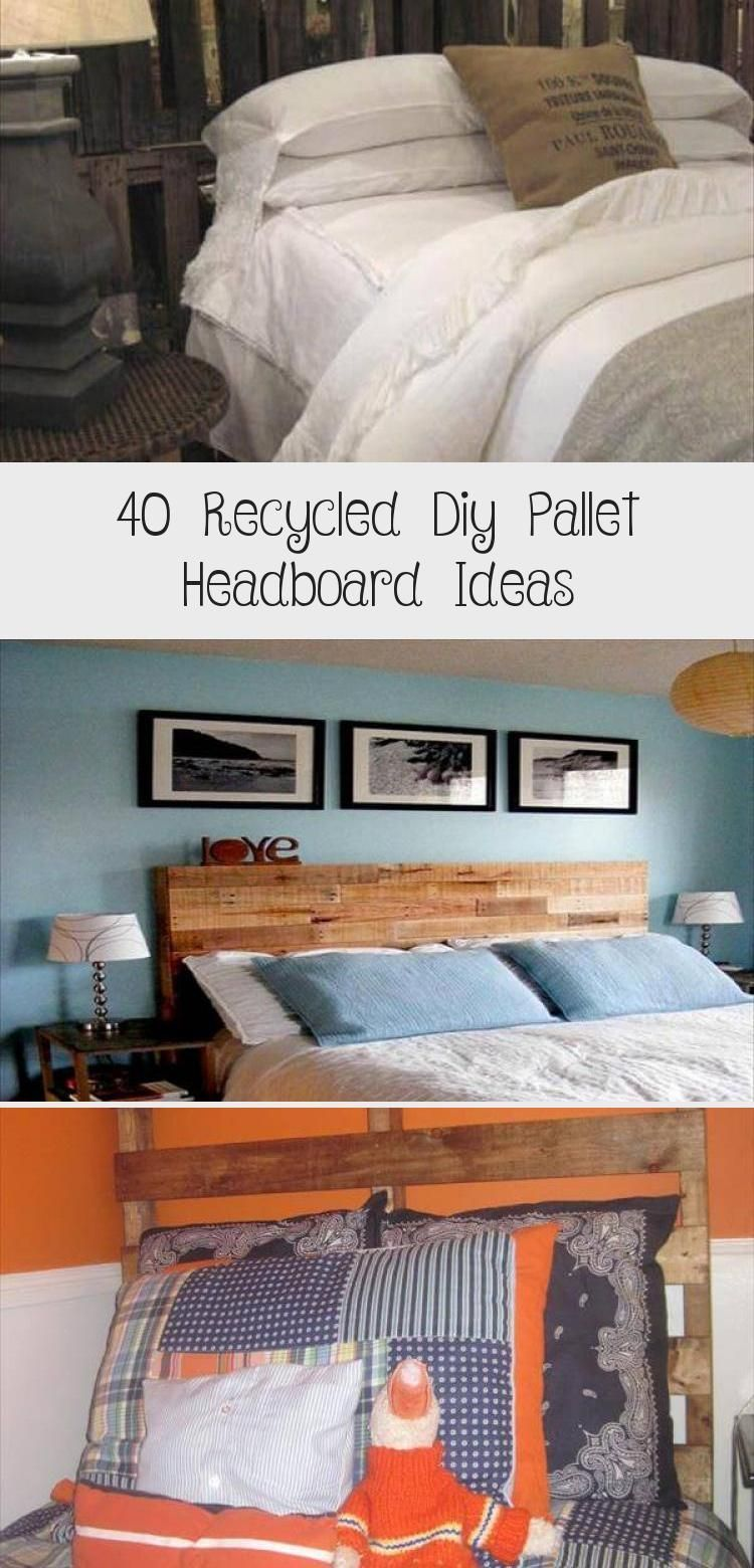 40 Recycled Diy Pallet Headboard Ideas - DIY #palletheadboards 40 Recycled DIY Pallet Headboard Ideas | 99 Pallets #HomeDecorDIYRecycle #palletheadboards