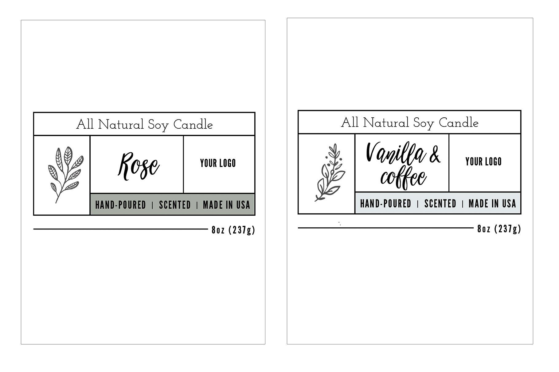 Candle Label Templates Candle Label Template Label Templates Candle Labels