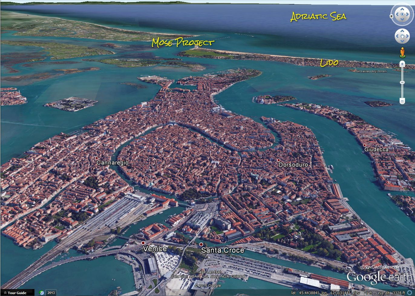 Google Earth view of Venice and the Mose Project | Arts   Cities