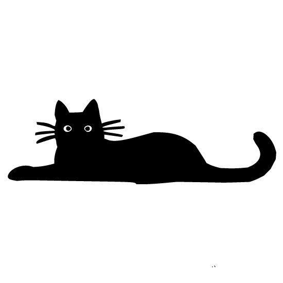 Black Cat Silhouette Vinyl Yeti Tervis Wall Or Car Decal - Vinyl decal cat pinterest