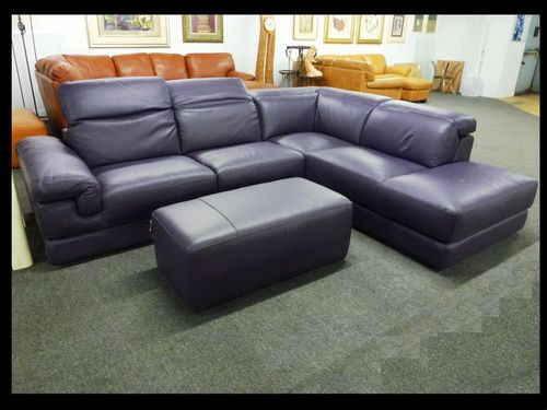Natuzzi Purple Leather Sectionals | Family room furniture | Leather ...
