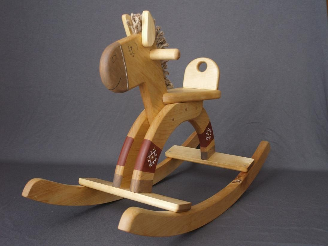 Wooden Toy Rocking Horse Personalized Kids Toy Engraved Ride On Toy Wooden Rocking Horse Wooden Toys Rocking Horse