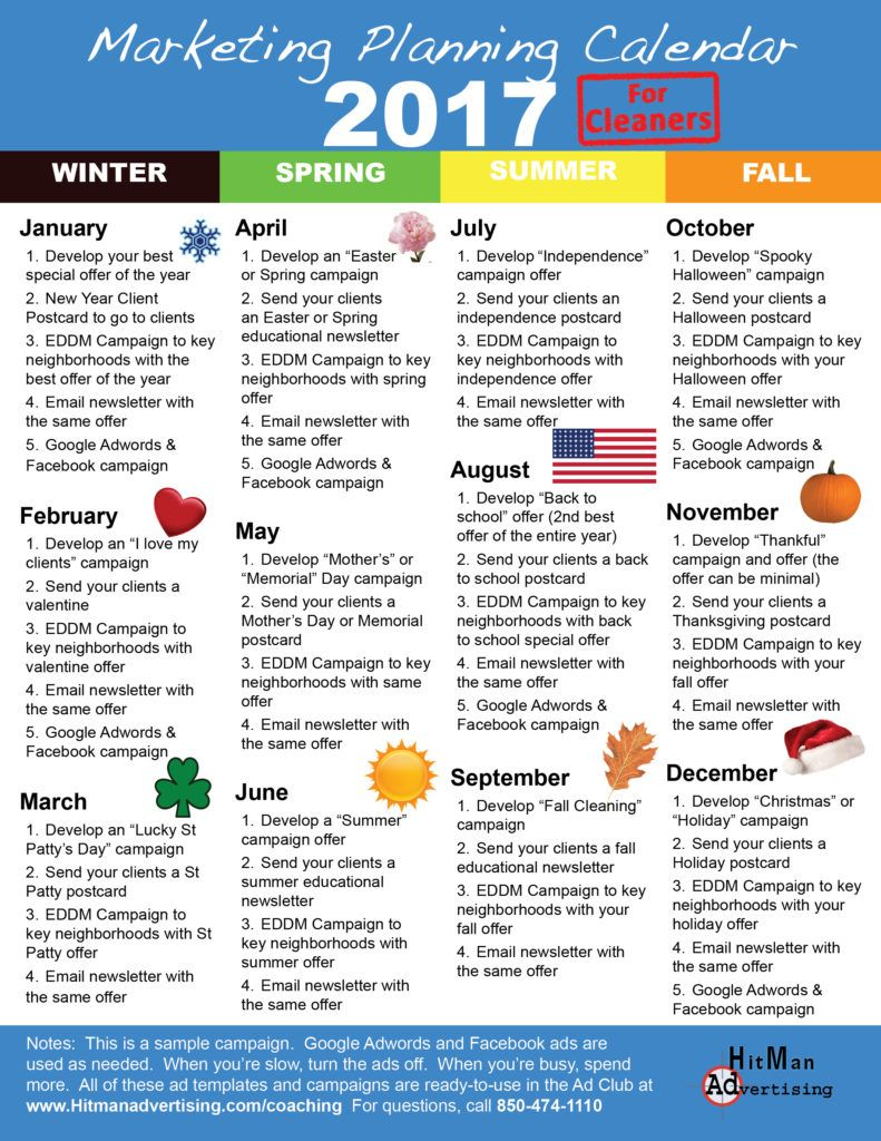 marketingplanningcalendar | Commercial Cleaning | Pinterest ...