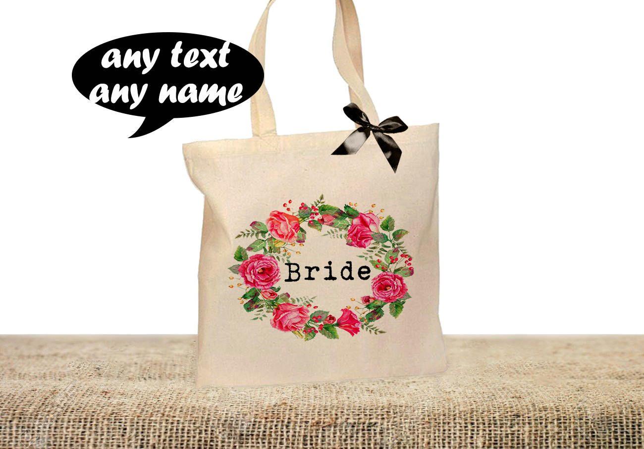 bride tote bag bridesmaid tote bag personalised wedding tote bag