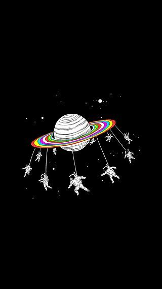 Astronauts Merry Go Round Space iPhone 6+ HD