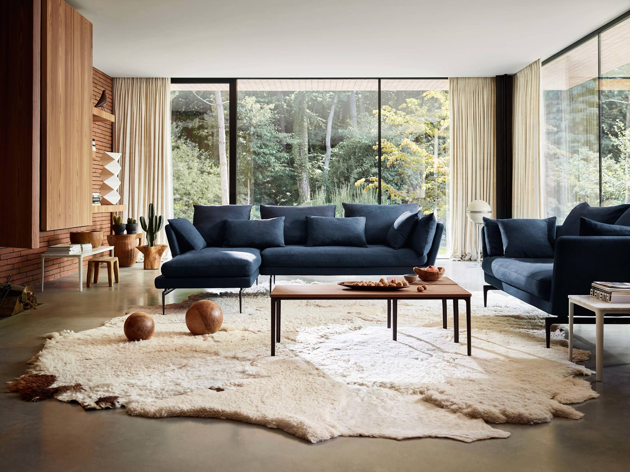Vitra Restrained Elegance With A Touch Of Mid Century Design Is The Formal Contemporary Designers Furniture Vitra Suita Sofa Sofa Design Contemporary Interior Design