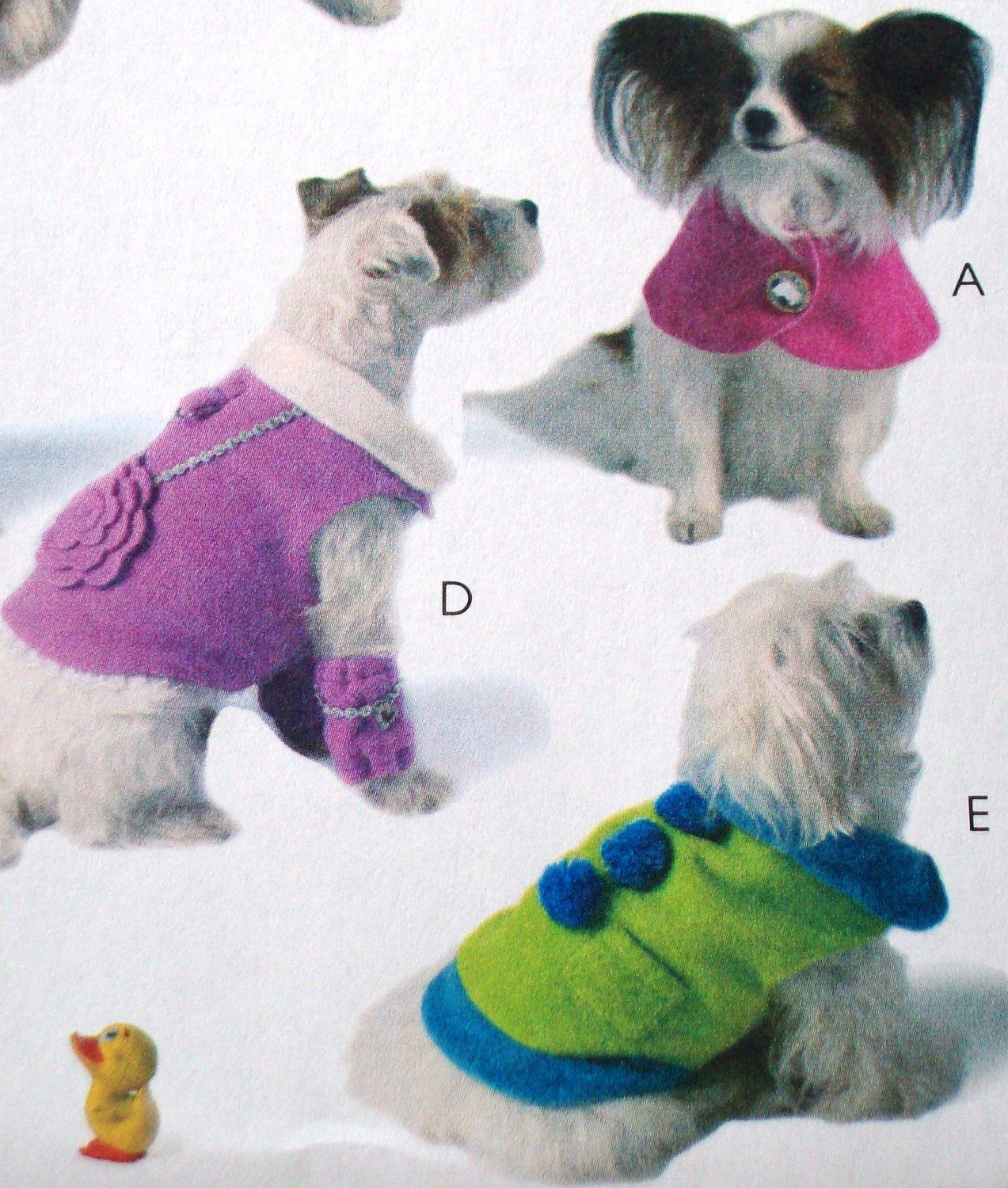 Pet Clothes for Dog Attire, Mc Calls Sewing Pattern M5998, New ...