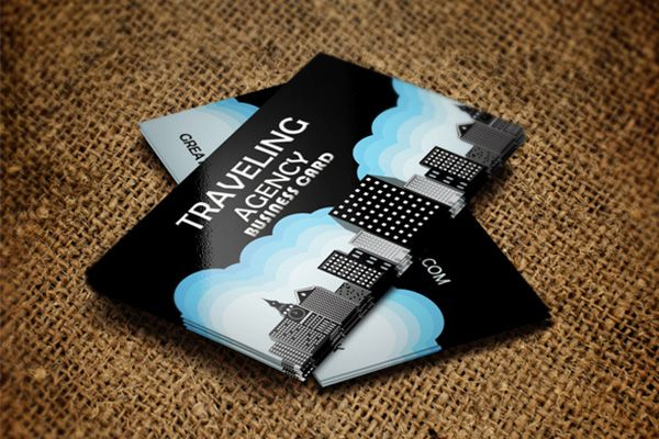 Traveling Agency Business Card By Adlex Agency Business Cards Blue Business Card Premium Business Cards