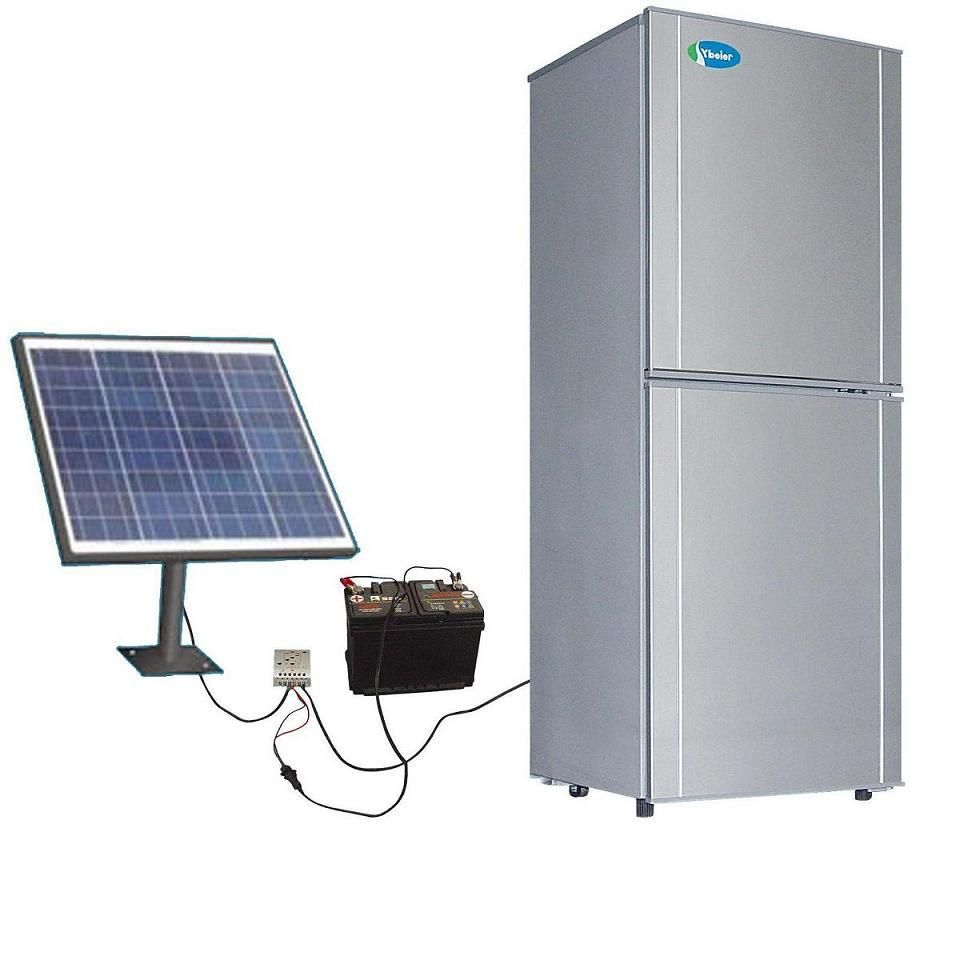 Go Solar On Your Refrigerator If You Ever Have Long Power Outages You Ll Save A Ton Of Food From Spoiling Or A Ton Of Solar Panels Solar Solar Refrigerator